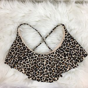 Xhilaration Bikini Top Swimsuit Small Leopard